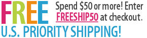 Free Shipping with purchases of $50 or more!