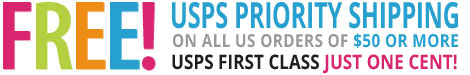 Free Shipping with purchases of $45 or more!