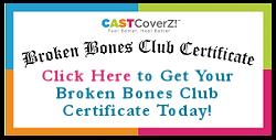 Broken Bones Club Certificate